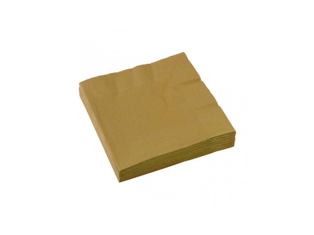 Servítky - Zlatá 33x33 cm