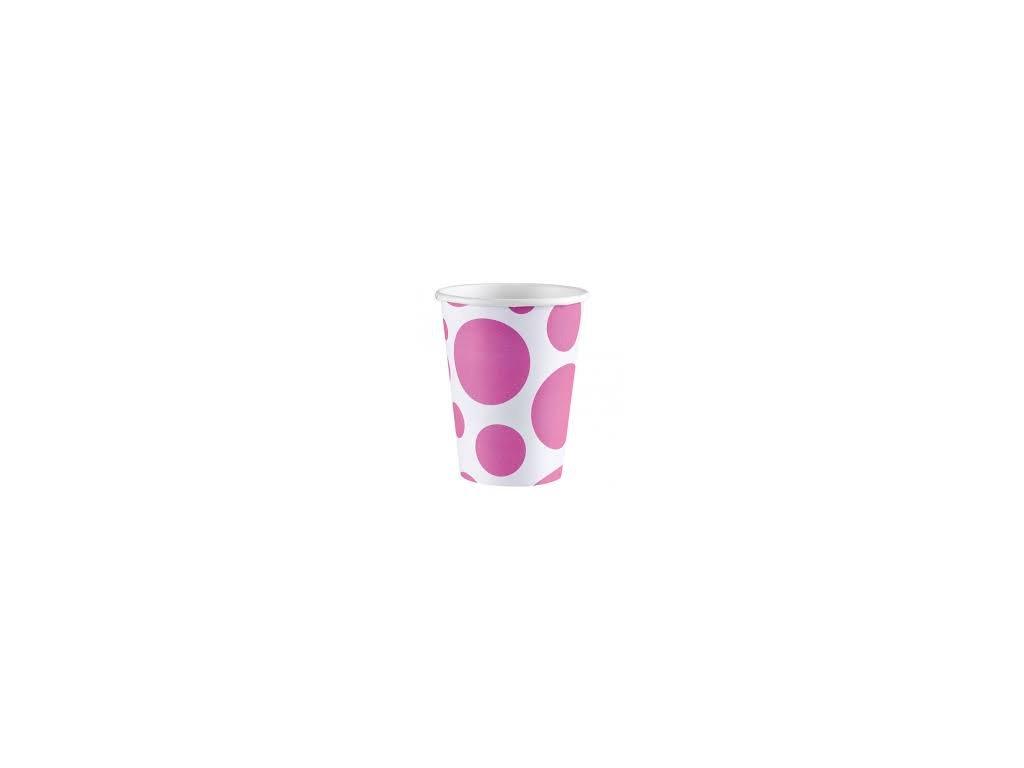 Pohár ružový bodkovaný
