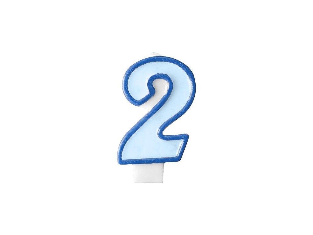 682 narodeninova sviecka s cislom 2 modra