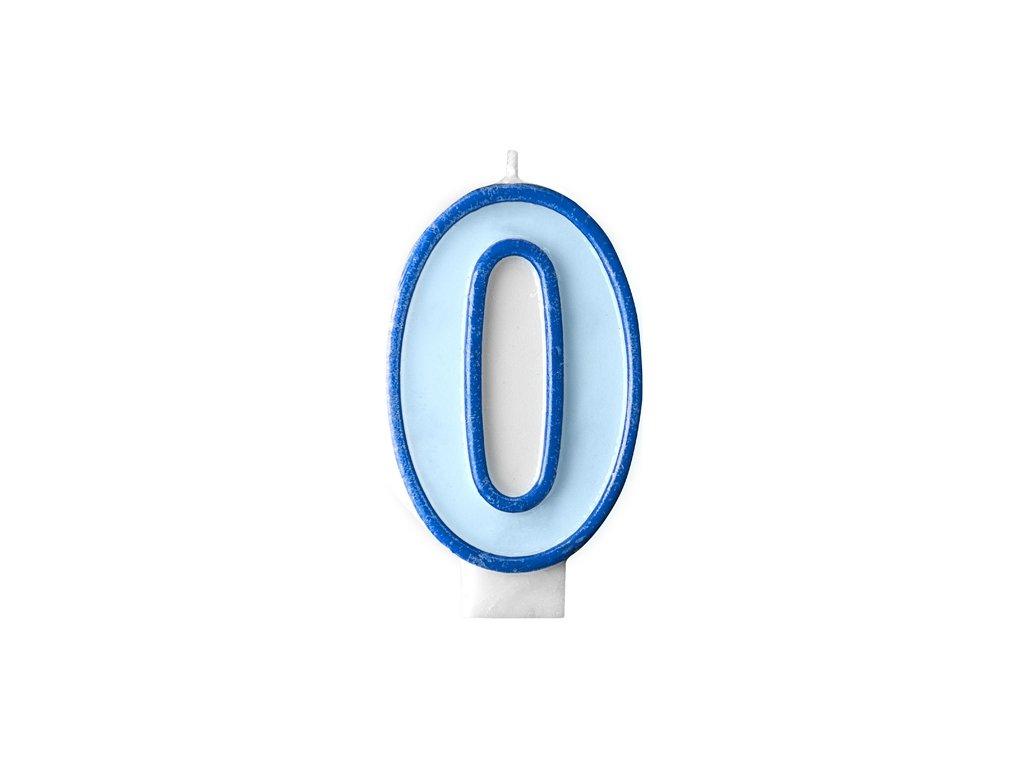 2851 narodeninova sviecka s cislom 0 modra