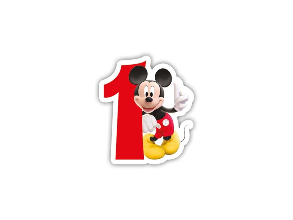 Narodeninova sviecka Mickey Mouse 1