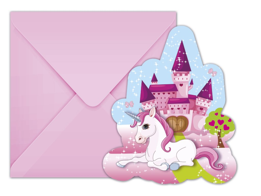 UNICORN DIE CUT INVITATION ICON