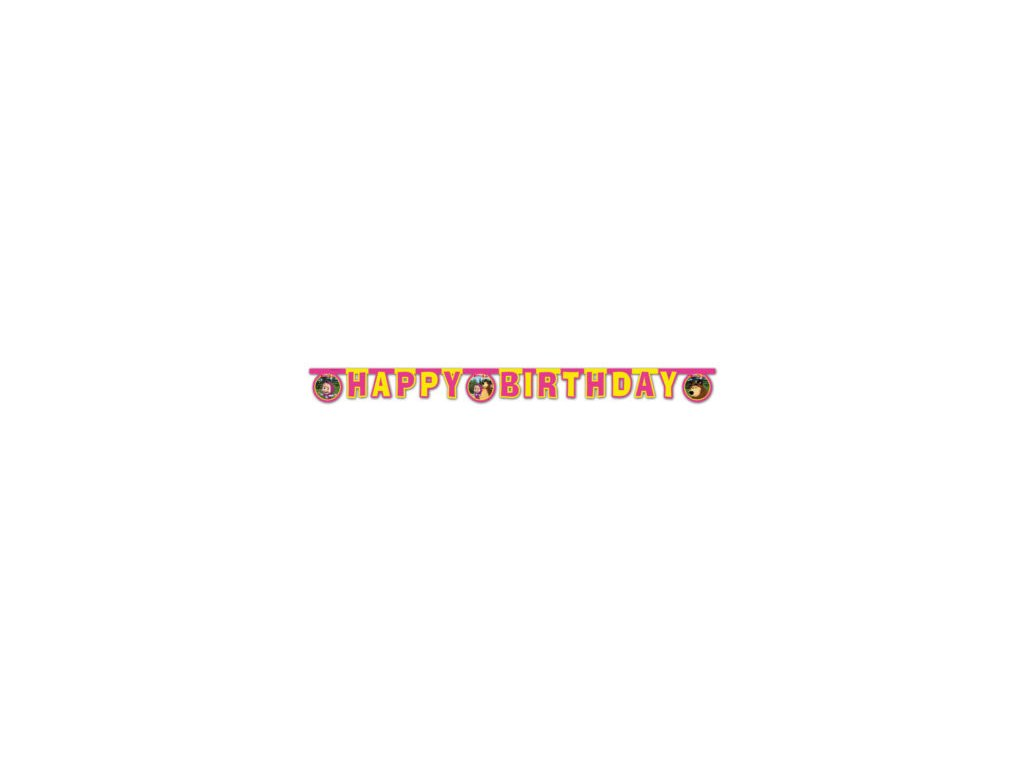 Banner Happy birthday Masa a medved