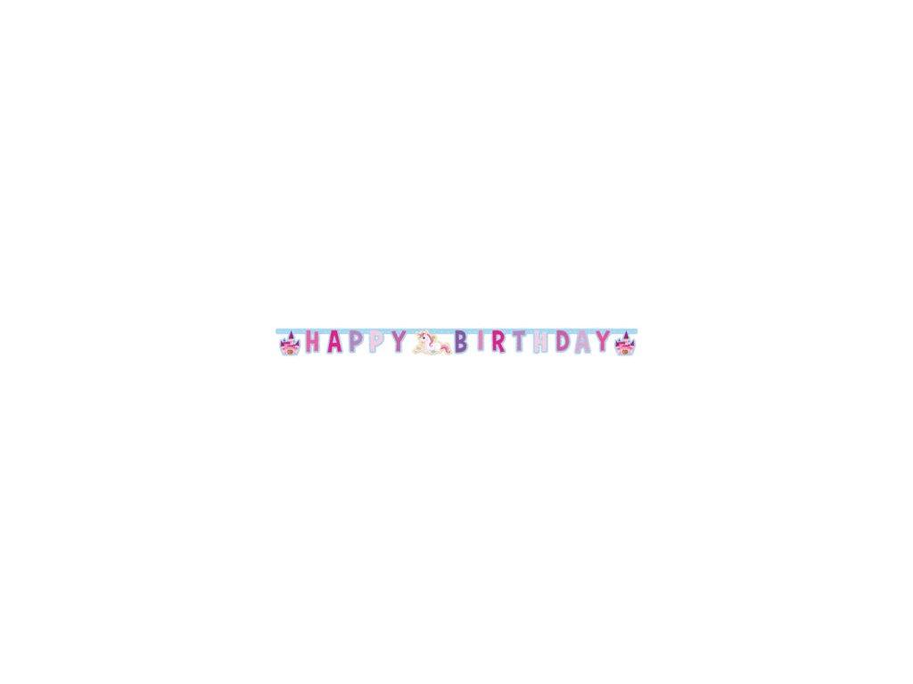 Baner Happy birthday jednorozec