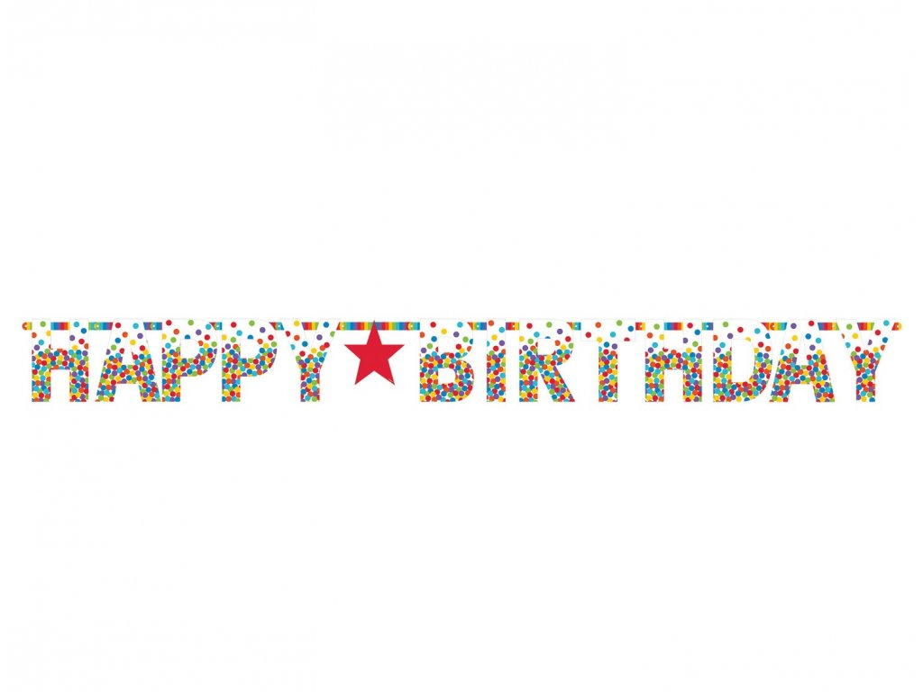 34004 banner happy birthday farebny