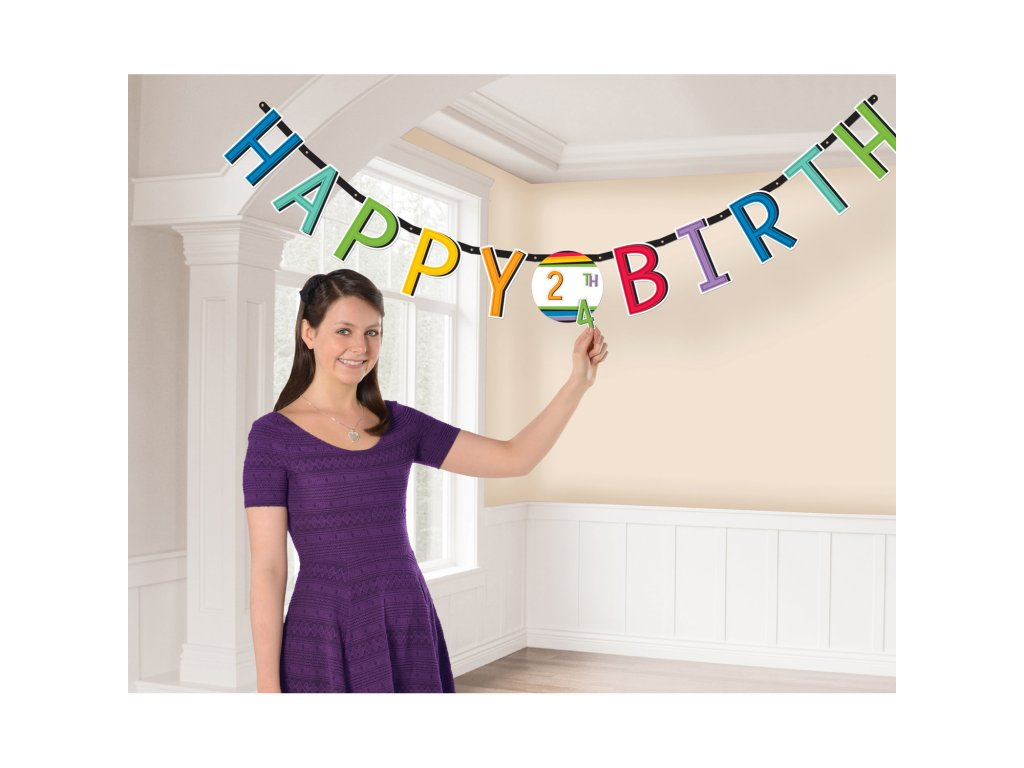 34007 farebny banner happy birthday