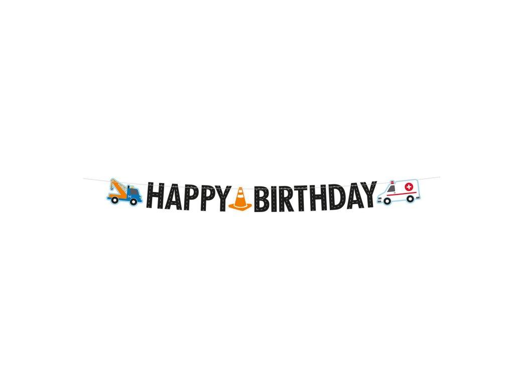 43013 banner happy birthday cestna premavka