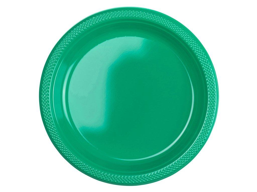Plastové taniere - zelené 10 ks
