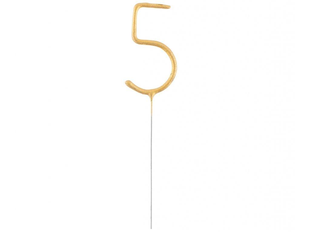 Studené iskry v tvare Zlatého čísla 5