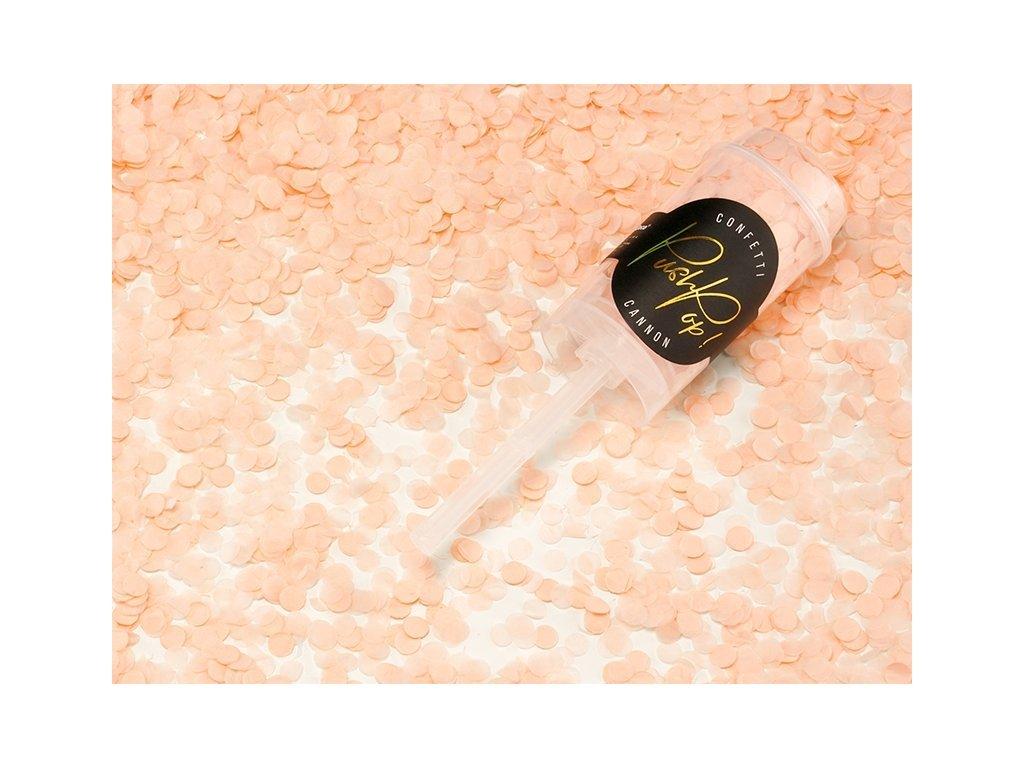 Malé Vystreľovacie konfety – broskyňová farba