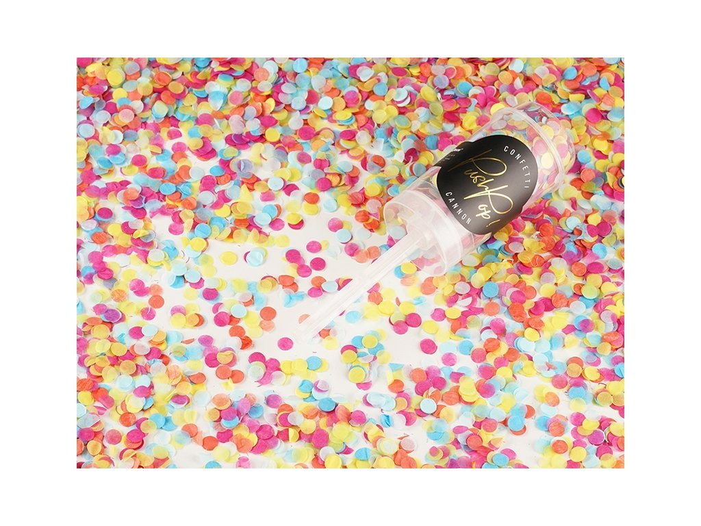 Malé Vystreľovacie konfety – mix farieb