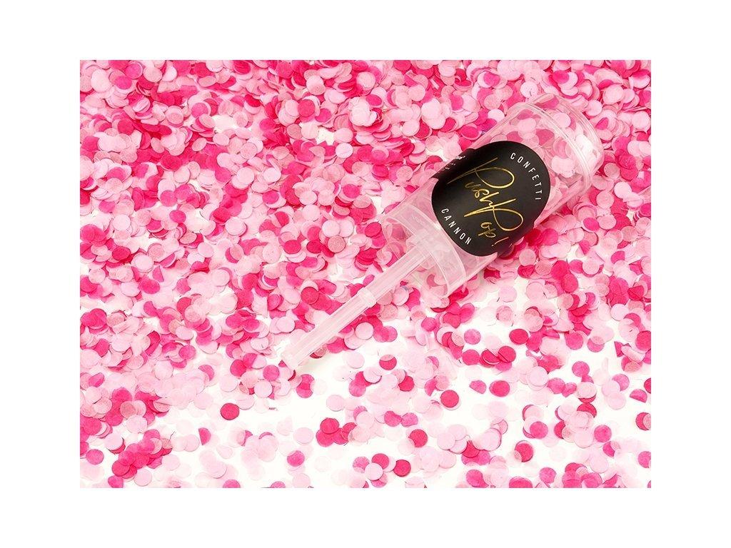 Malé Vystreľovacie konfety - ružové