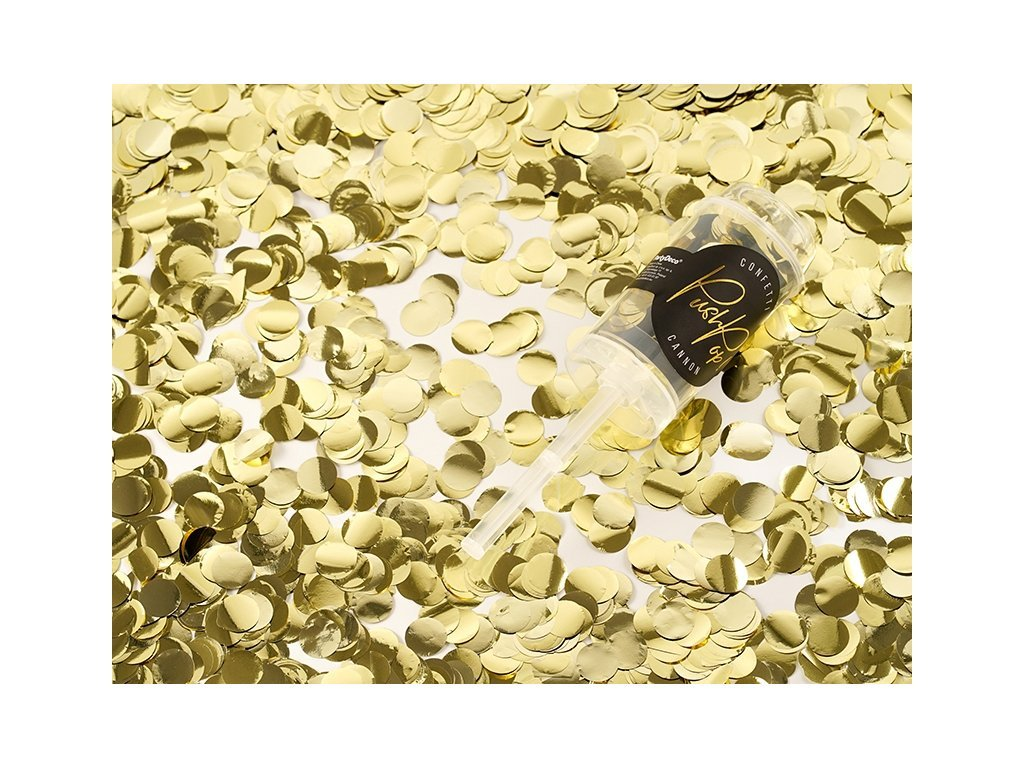 Malé Vystreľovacie konfety - zlaté