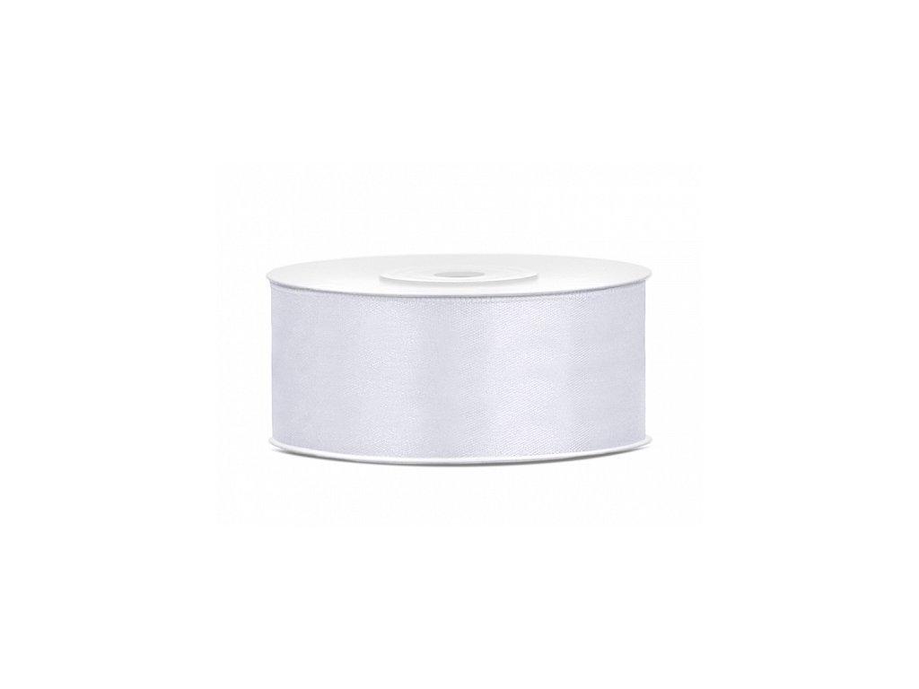 Satenová stuha - biela 25mm/25m