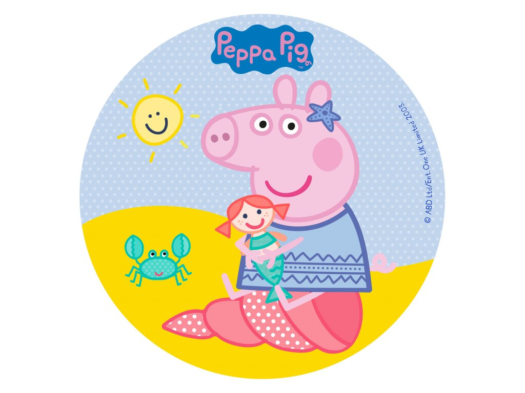 231328 DISCO COMESTIBLE TARTA PEPPA PIG 16CM ZERO 3