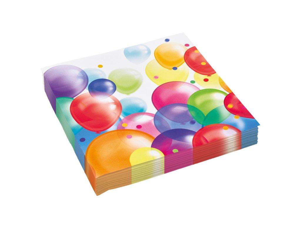58128 servitky pastelove balony 33 x 33 cm