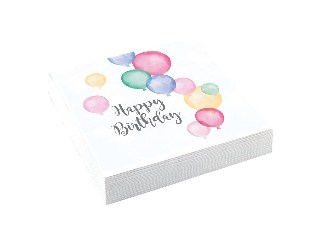 58137 servitky happy birthday pastelove balony 33 x 33 cm