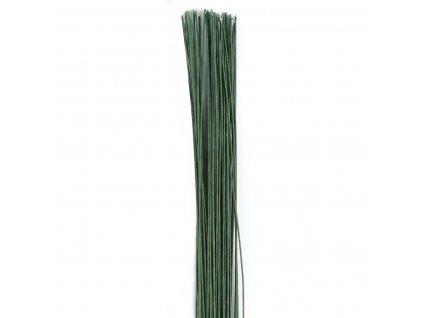 tmavozelený floristický drôt
