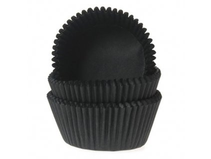 čierne košíčky na muffiny