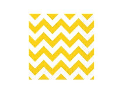Servítky žlté 33 x 33 cm 20 ks