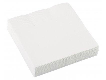 Biele servítky 25x25 cm