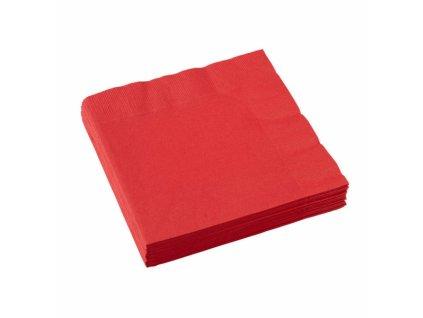 Červené servítky 25x25 cm