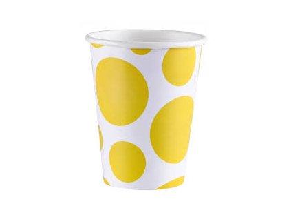 Poháre žlté bodkované