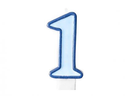 673 narodeninova sviecka s cislom 1 modra