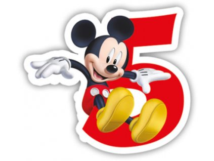 Narodeninova sviecka Mickey Mouse 5