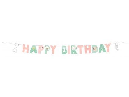 42569 banner happy birthday hello pets