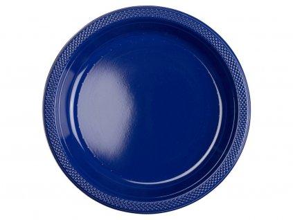 Plastové taniere - námornícka modrá 10 ks