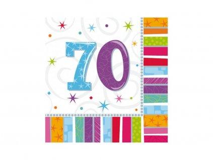 Servítky 70. narodeniny 33 x 33 16 ks