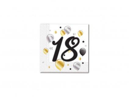 Servítky s číslom 18 - milestone 33 x 33 cm 20 ks