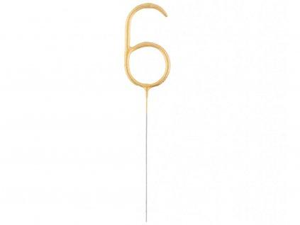 Studené iskry v tvare Zlatého čísla 6
