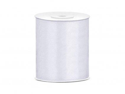 Saténová stuha biela 100mm/25m