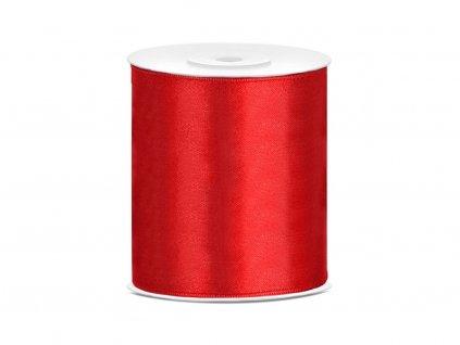 Saténová stuha červená 100mm/25m