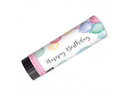 58140 party vystrelovacie konfety happy birthday pastelove balony 2 ks