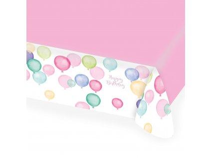 58149 obrus happy birthday pastelove balony 115 x 175 cm