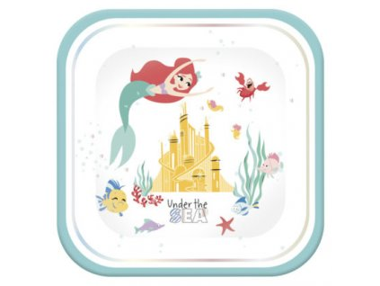 ARIEL UNDER THE SEA SHAPED PLATE 2