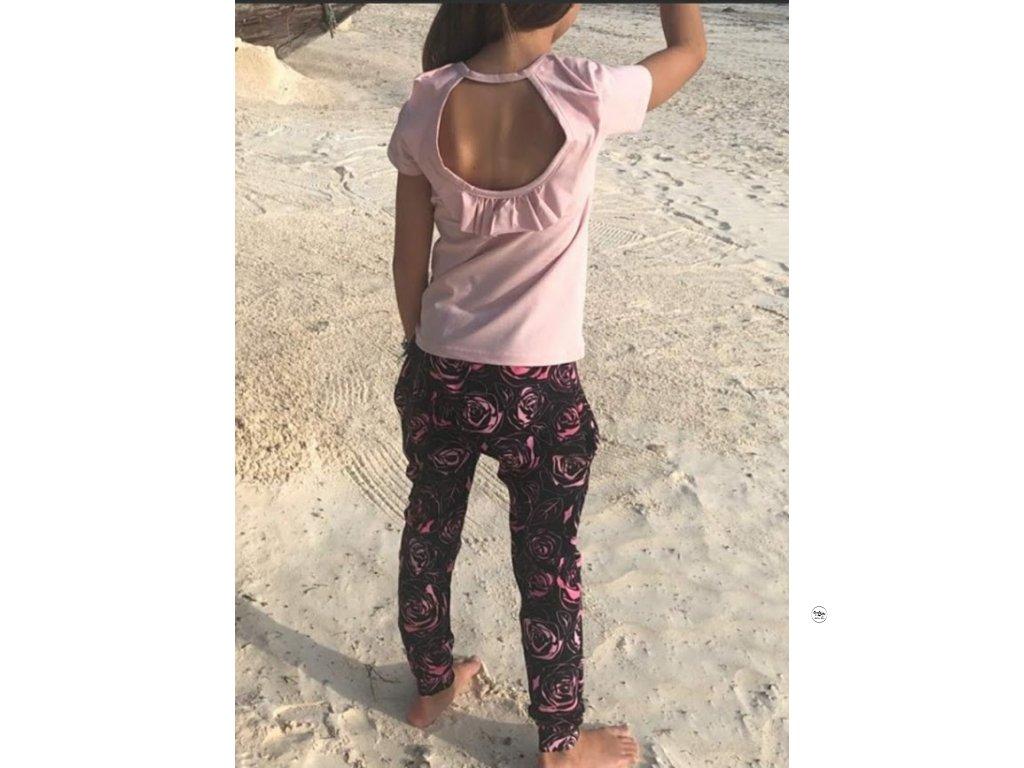 Dívčí triko světle růžové