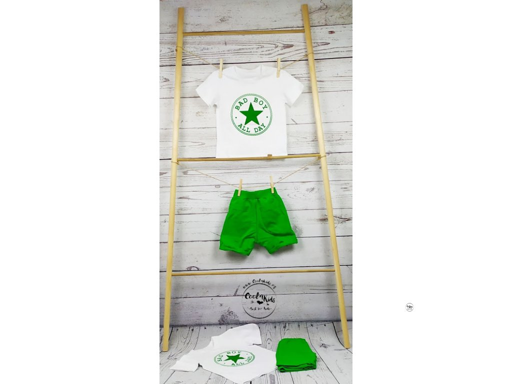 Chlapecké kraťasy zelené