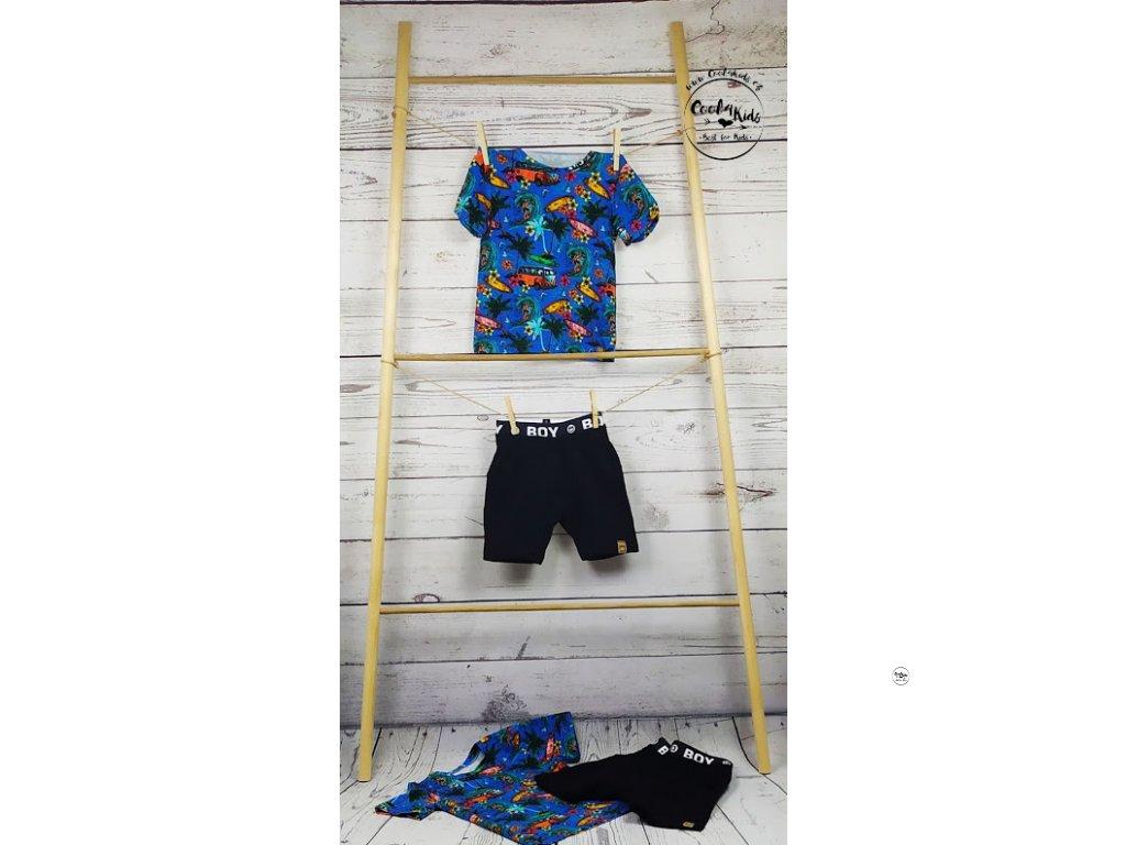 Chlapecké triko modré hawai