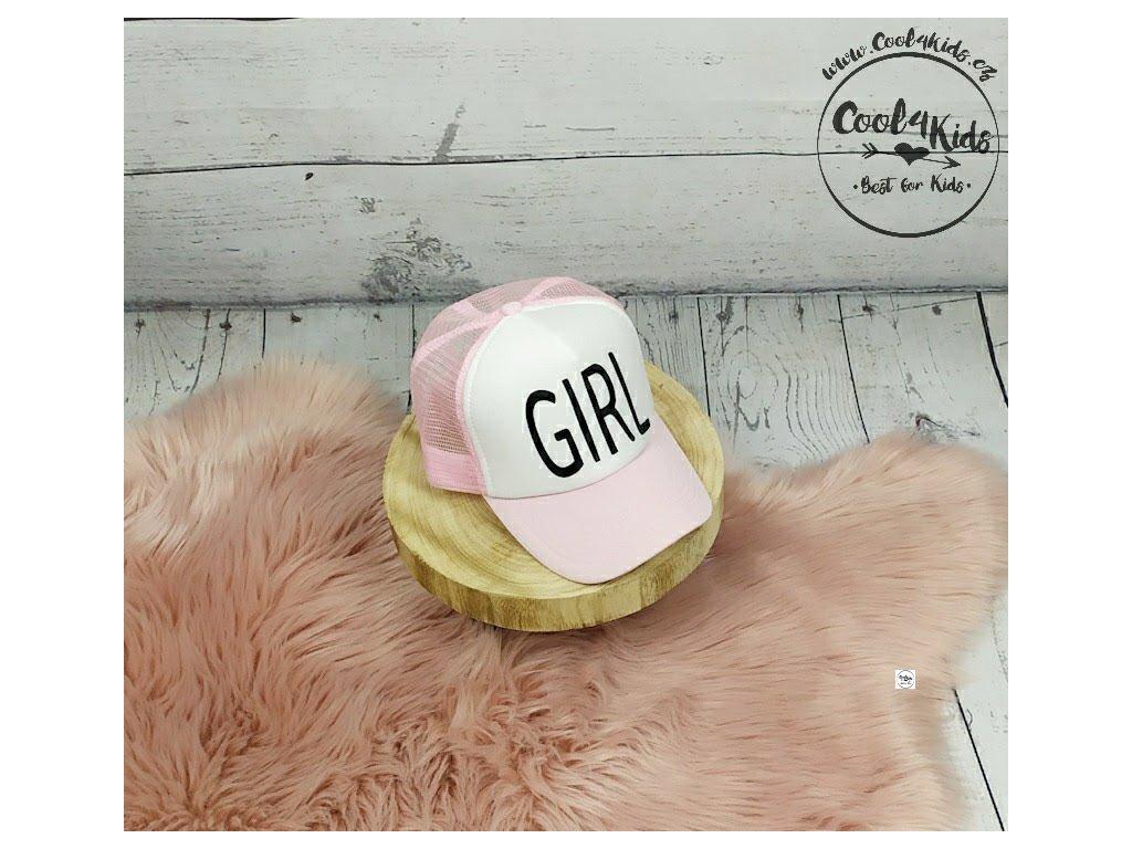Kšiltovka dívčí růžová GIRL