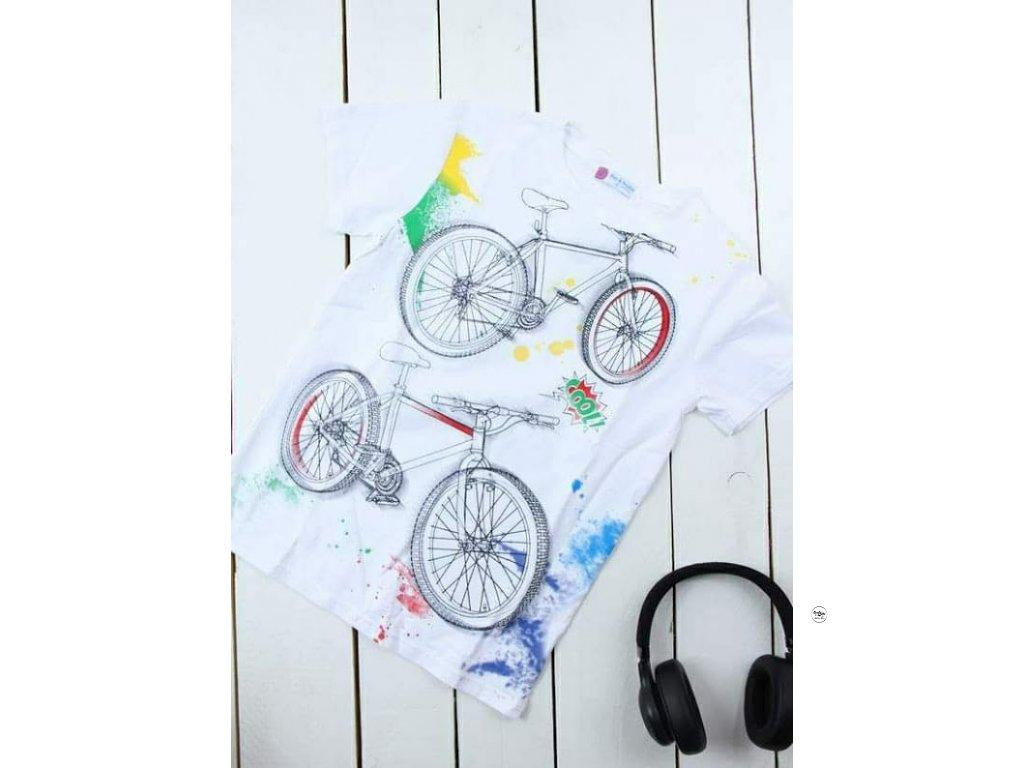 Chlapecké triko bílé kola