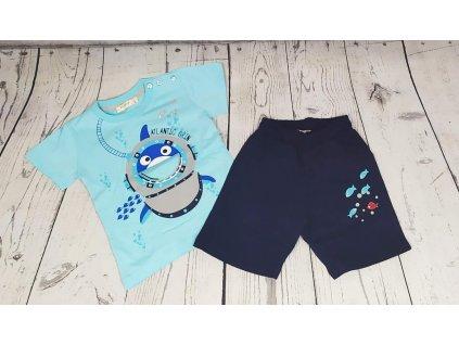 Chlapecký set shark kraťasy+triko