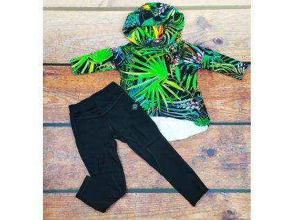 Dívčí kalhoty s kapsami černé