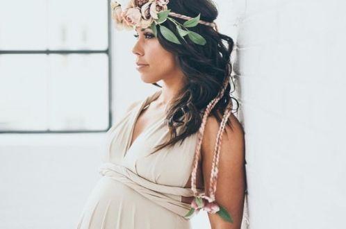 Těhotenské šaty pro  družičku