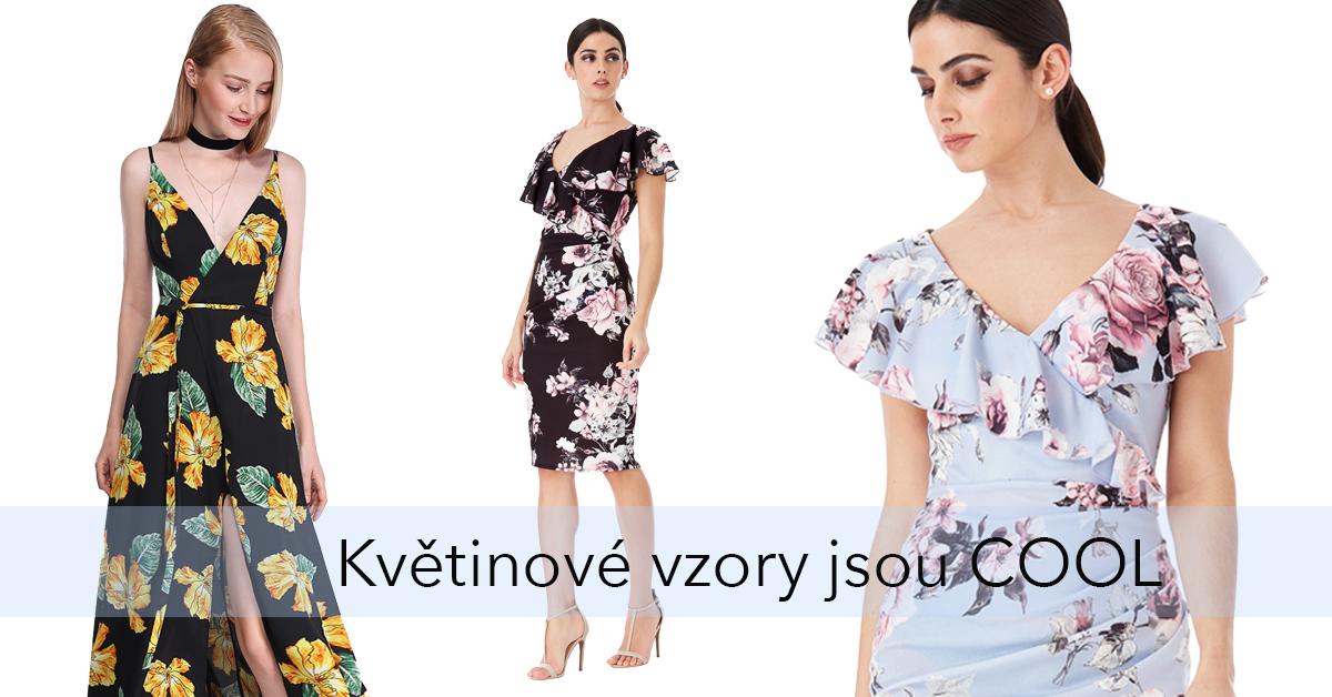 jarní a letní květované šaty