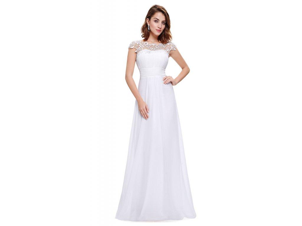 Ever Pretty bílé šaty s krajkou - Coolboutique fdfde1d699