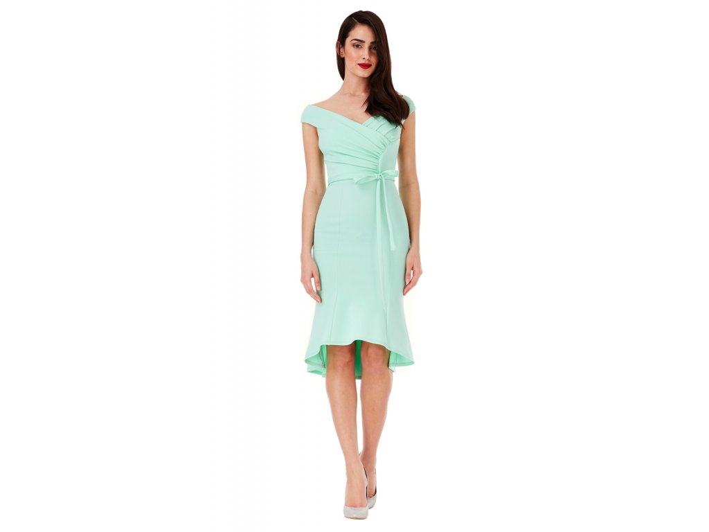 689cba3e72b City Goddess mentolové šaty